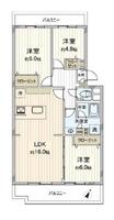 間取図/区画図:家族が見えるカウンターキッチン!